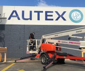 Autex router cut ACM individual letters factory building signage