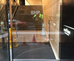 BHP matching to existing safety strip window graphics