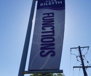 Club Kilsyth digital print on existing flag poles 4