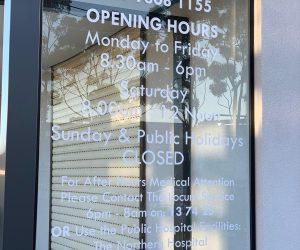 Craigieburn Clinic Trading Hours window graphics