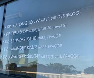 Craigieburn Clinic window graphics doctor names