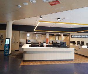 Deakin Uni Waurn Ponds 3D Illuminated Halo Lit back Lit office reception