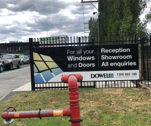 Dowell digital print _ anti-graffiti laminate factory signage
