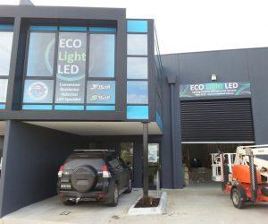 Eco light AFTER window graphics 3mm ACM _ digital print factory building signage - Copy
