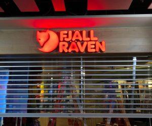 Fjall Raven 3D illuminated _ fabricated retail 2