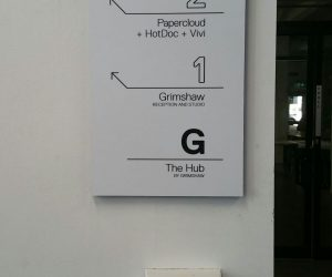 Grimshaw directional wayfinding signage