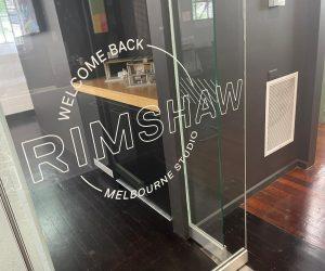 Grimshaw window graphics contour cut white 3