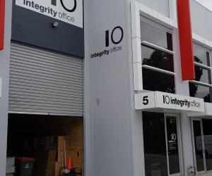 Integrity Office Building Signage 3mm ACM Acrylic 3D Letters _ Contour cut vinyl trading hours 2 - Copy