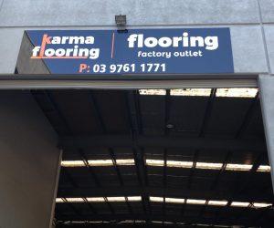Karma Flooring building factory signage ACM signage - Copy