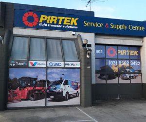 Pirtek Springvale one-way vision window graphics 4