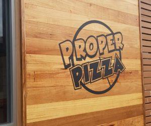 Proper Pizza contour cut vinyl graphics