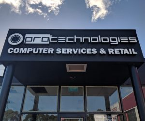 Protechnologies 3D front lit fabricated illuminated external signage