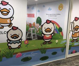 Shichida The Glen window and wall graphics 3