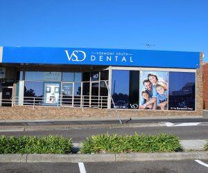 Vermont South Dental 3D letters 3mm ACM _ window graphics
