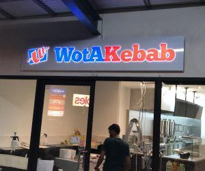 Wotakebab 3D Illuminated pushfit letters retail 3