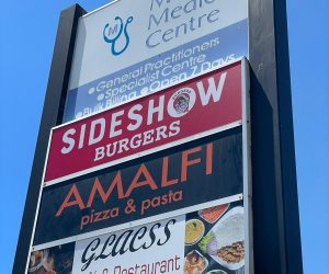 sideshow burgers Wantirna pylon illuminated lightbox 2